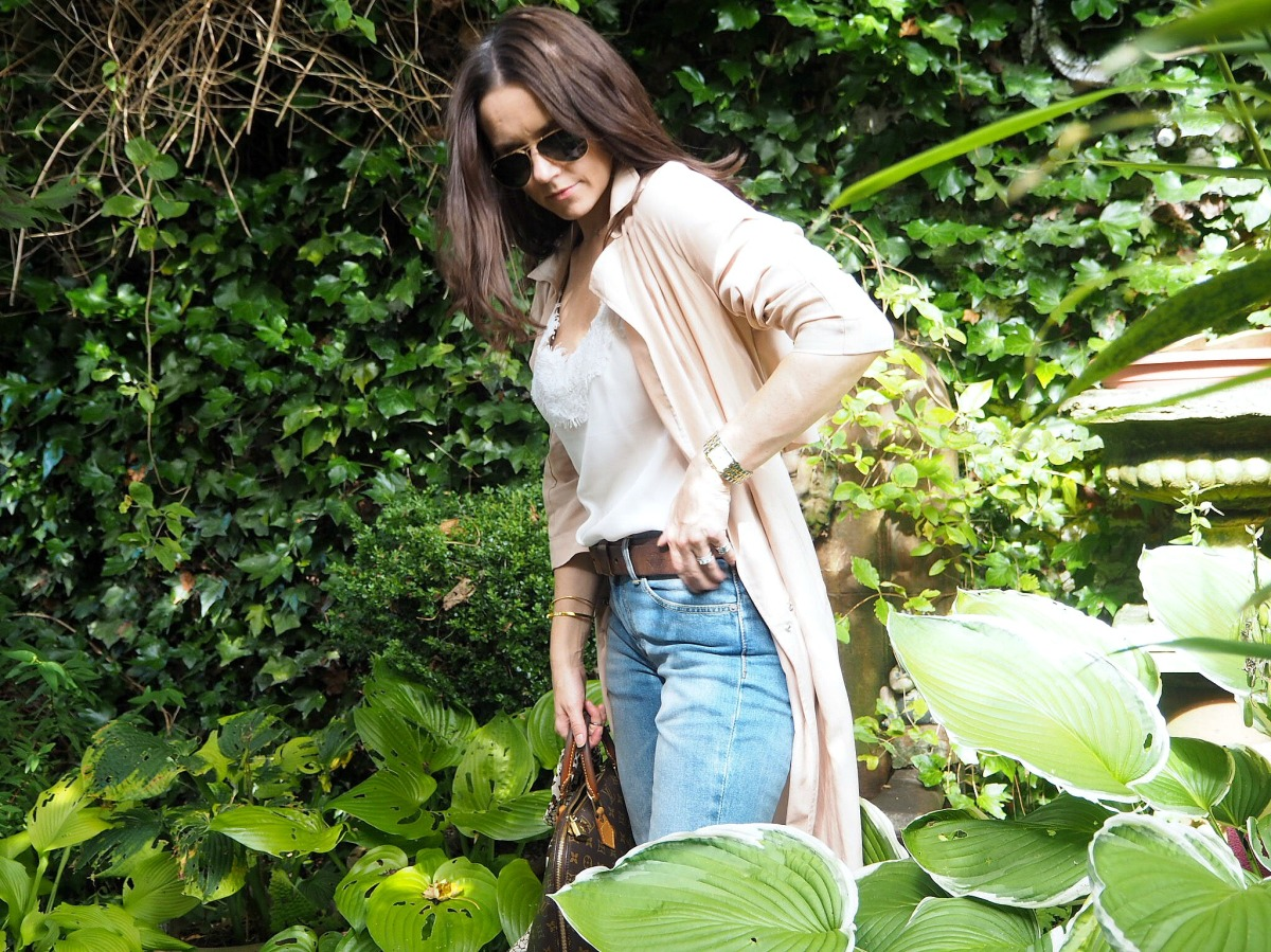 Pink Trench & Denim | jessicarhoades.co.uk