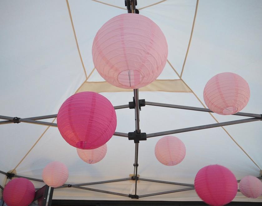 Pink Chinese Paper Lanterns