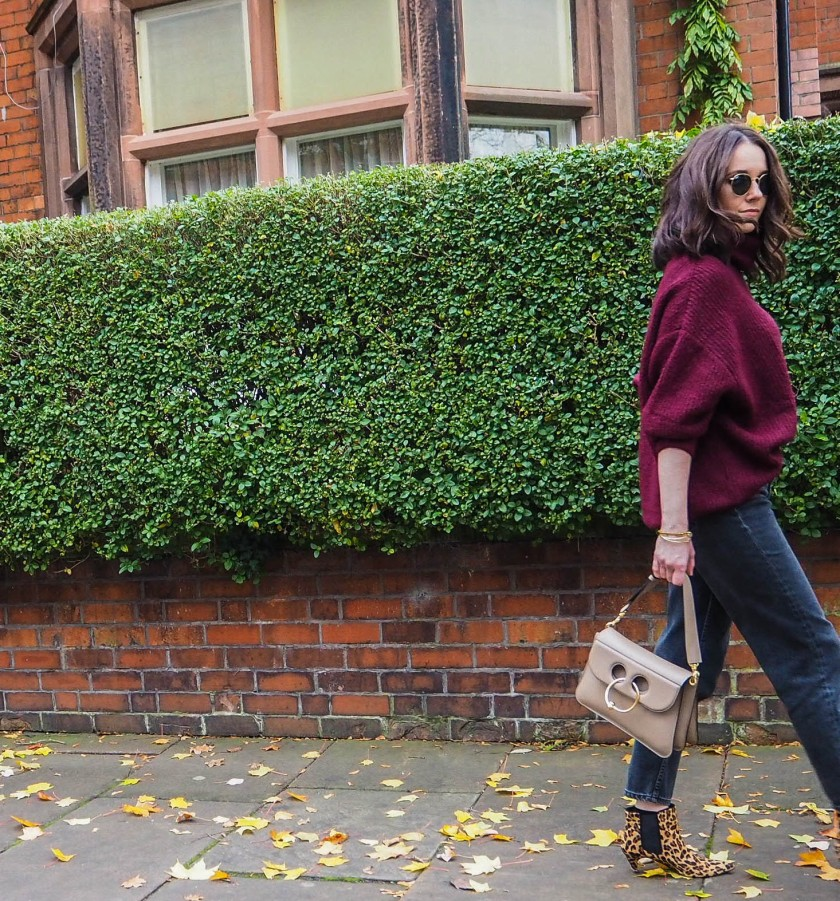 Burgundy Chunky Knit Outfit