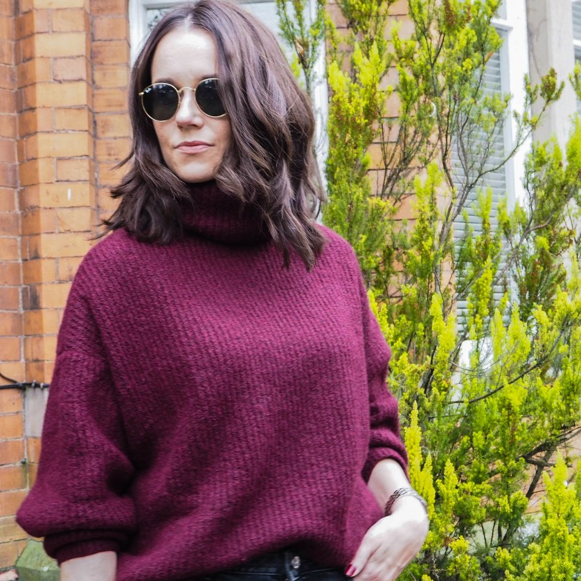 Burgundy Zara Jumper