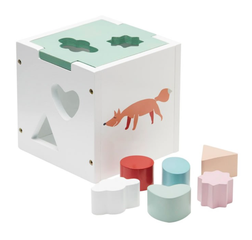 Wooden Shape Sorting Toy Box