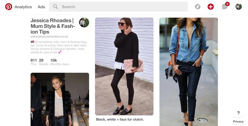 Jessica Rhoades Pinterest Page
