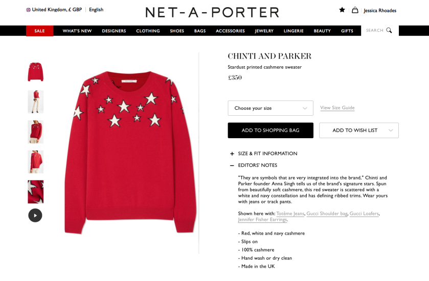 Chinti & Parker Christmas Jumper