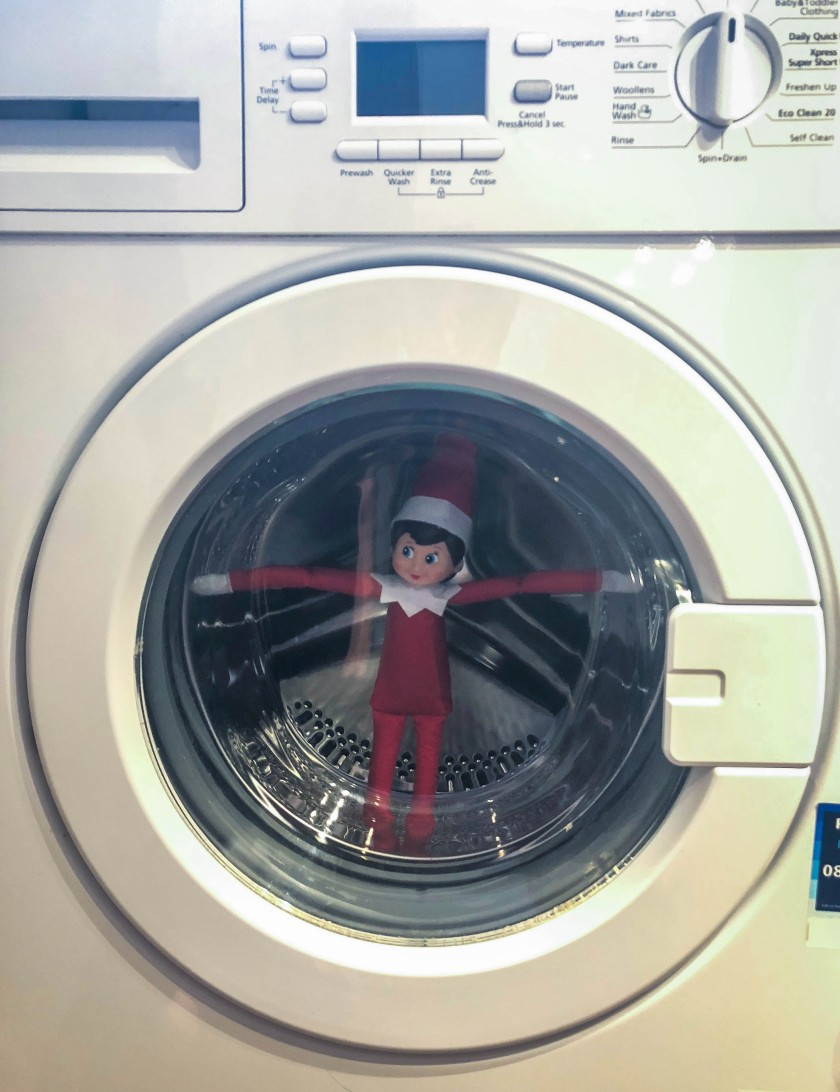 elf in the washing machine