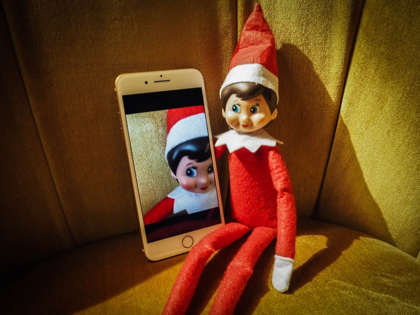 Elf on the shelf selfie