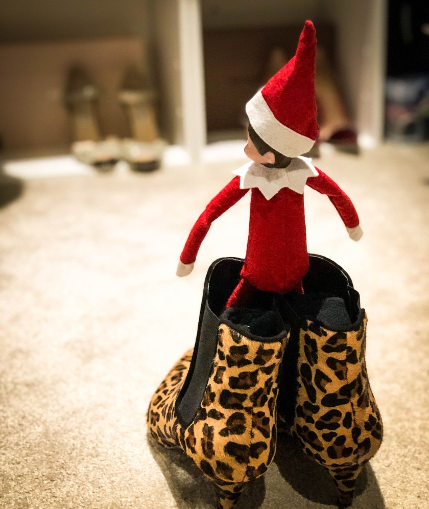Elf On The Shelf Wearing My Shoes