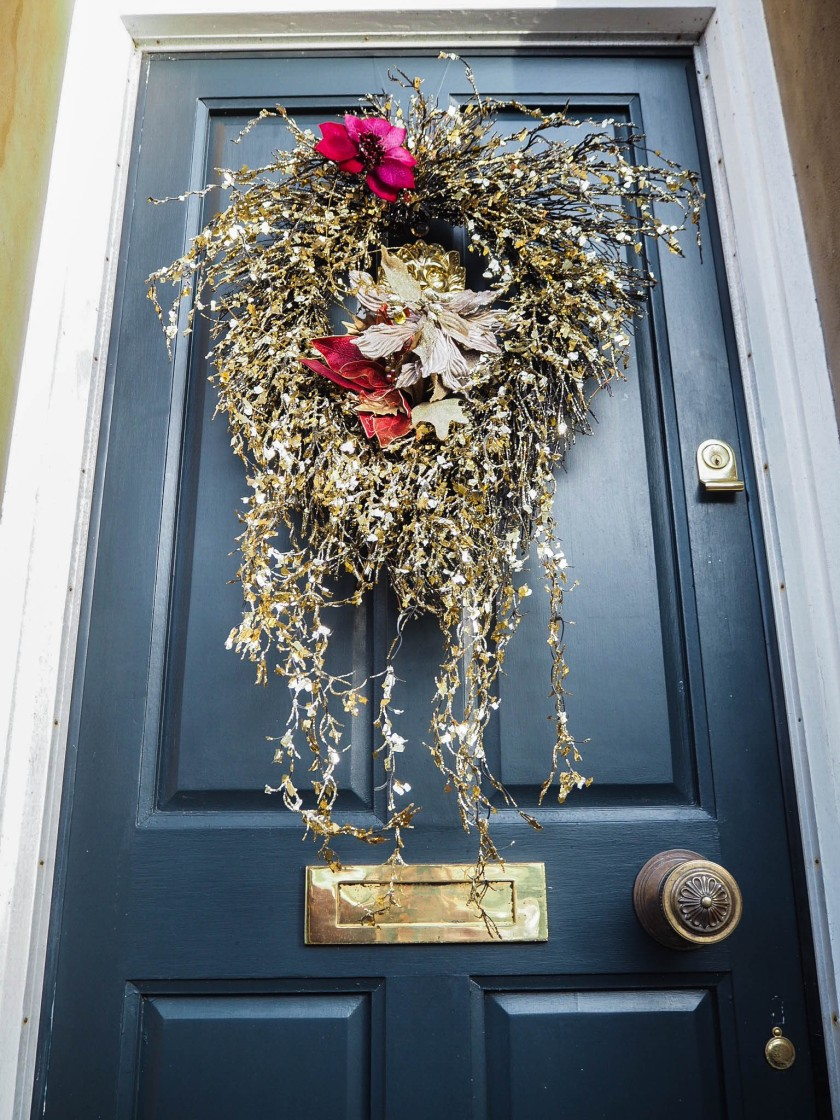 glitzy and glam door wreath