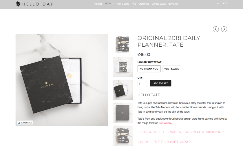 Hello Day Daily Planner