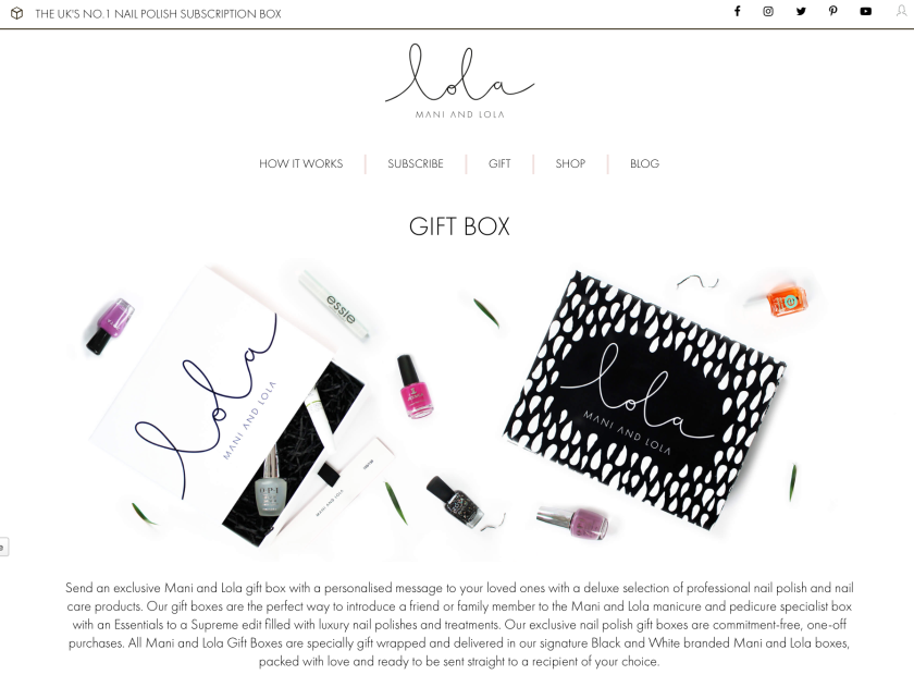 Mani & Lola Subscription Box