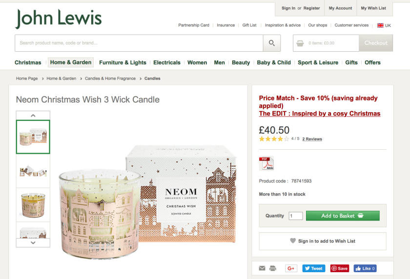 NEOM Christmas Wish Candle