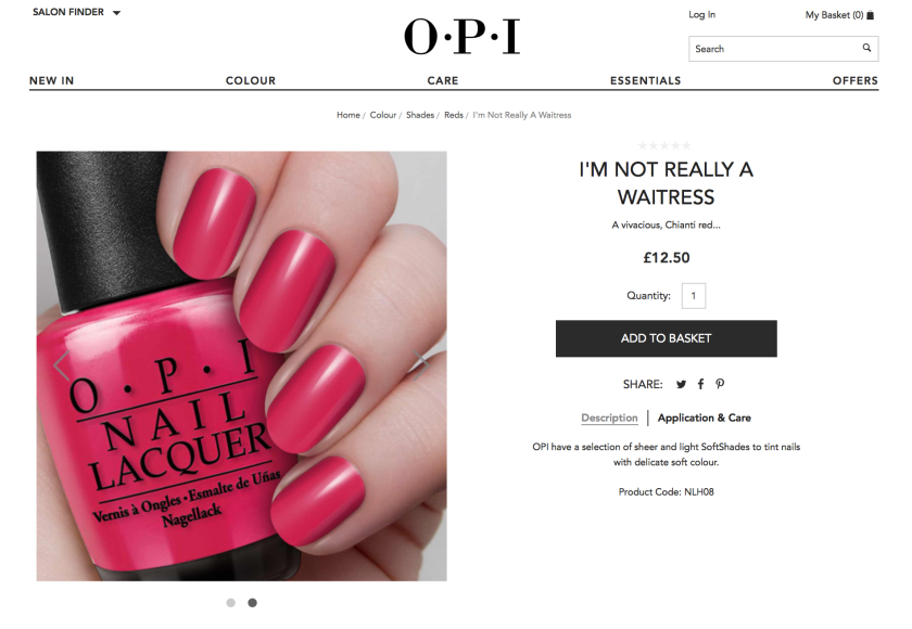 OPI Im Not Really A Waitress